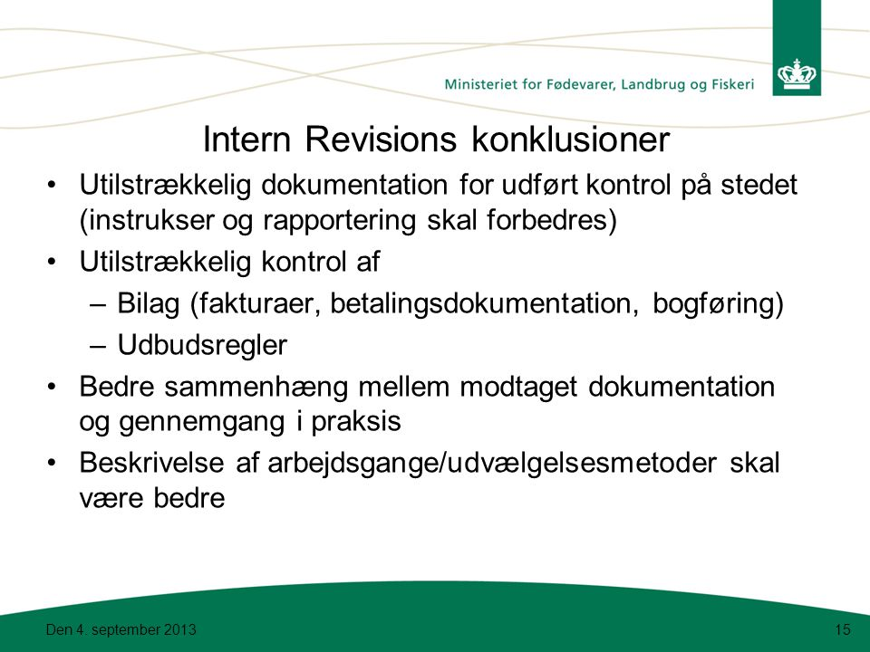 Intern Revisions konklusioner