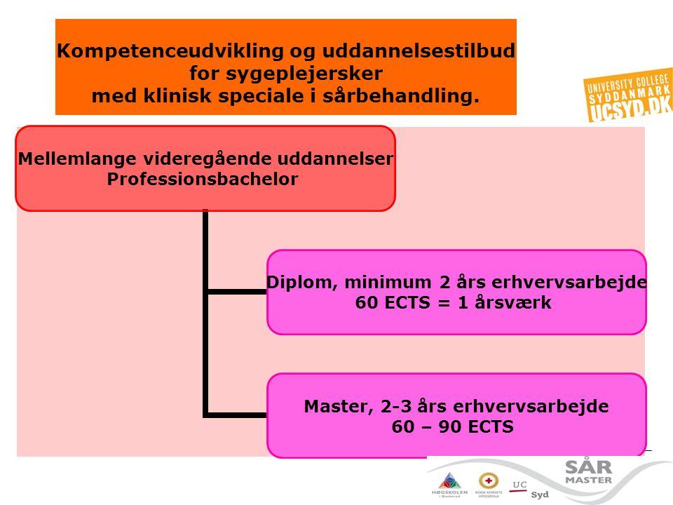Kompetenceudvikling og uddannelsestilbud for sygeplejersker med klinisk speciale i sårbehandling.
