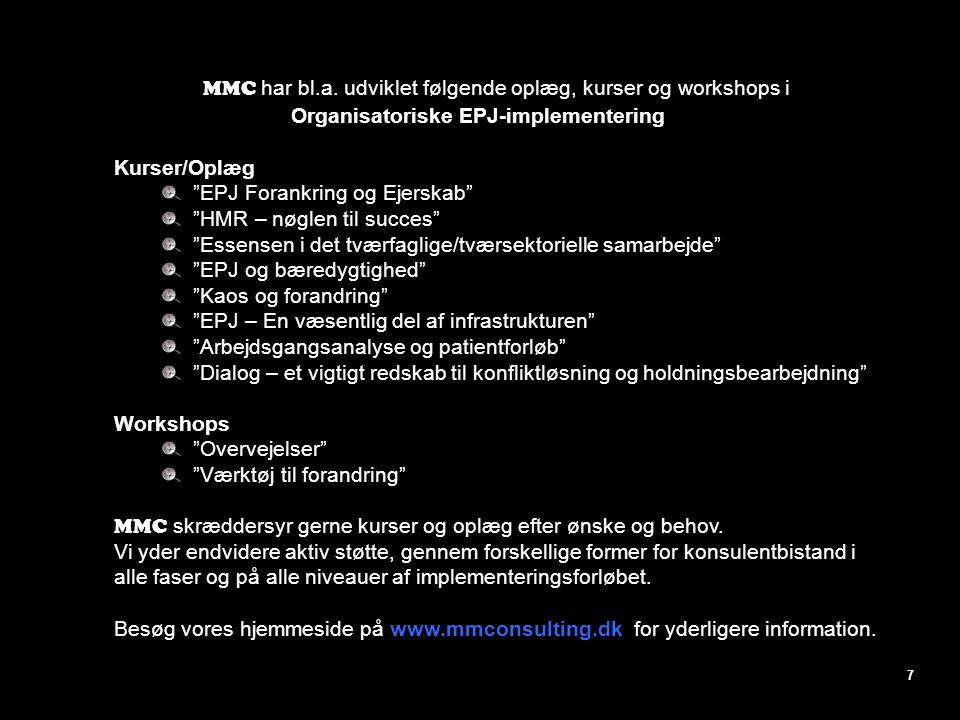 Organisatoriske EPJ-implementering