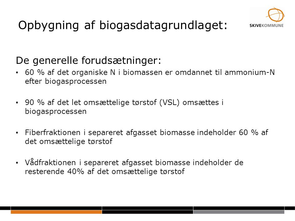 Opbygning af biogasdatagrundlaget: