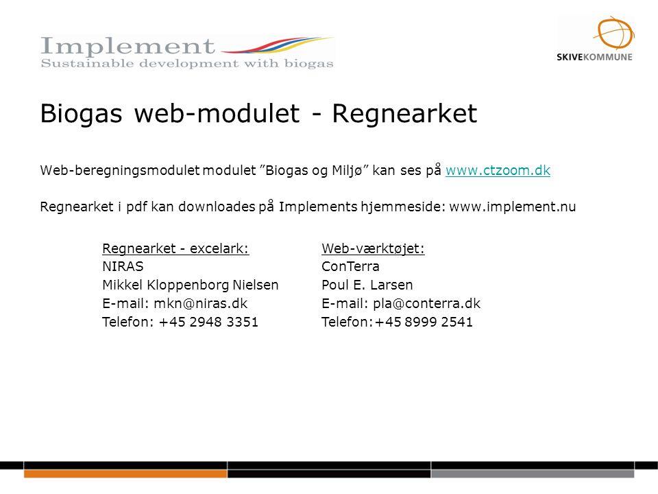 Biogas web-modulet - Regnearket