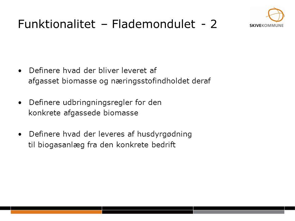 Funktionalitet – Flademondulet - 2