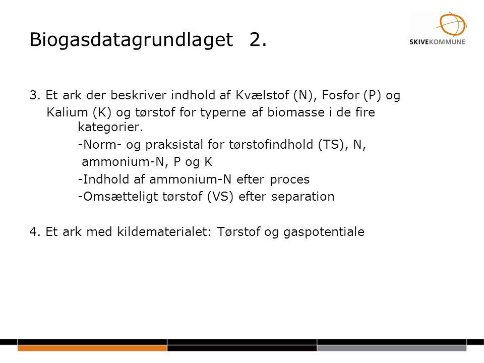 Biogasdatagrundlaget 2.