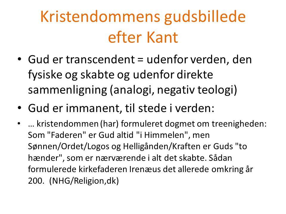 Kristendommens gudsbillede efter Kant