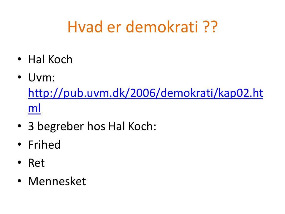 Hvad er demokrati Hal Koch