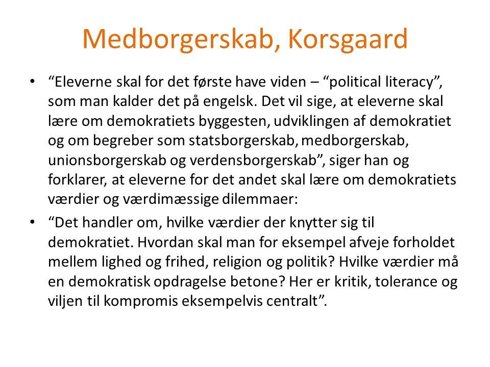 Medborgerskab, Korsgaard