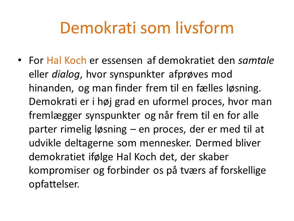 Demokrati som livsform