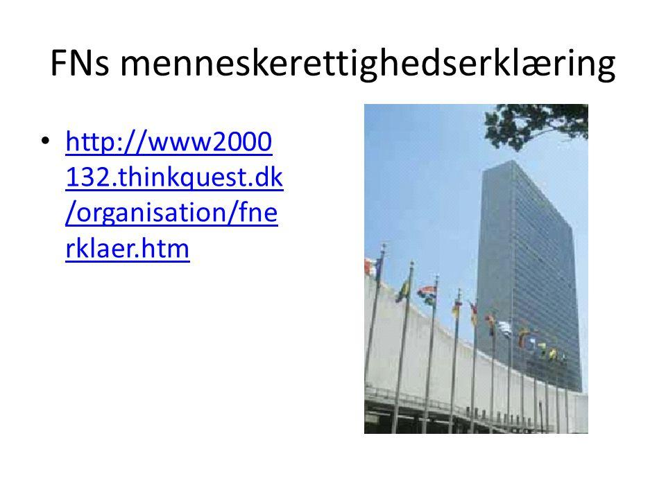 FNs menneskerettighedserklæring