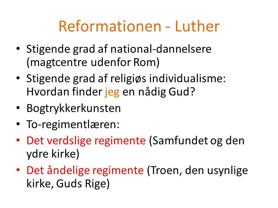 Reformationen - Luther