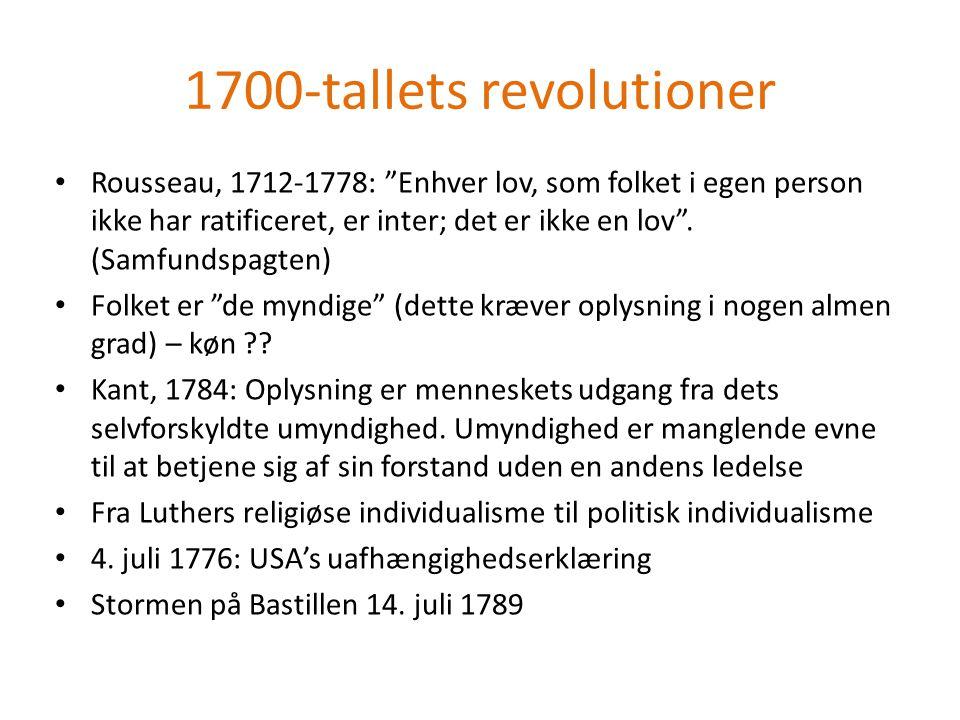 1700-tallets revolutioner