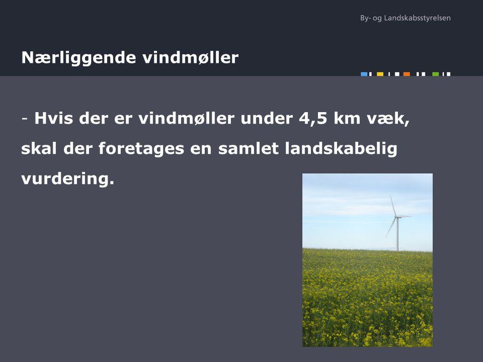 Nærliggende vindmøller