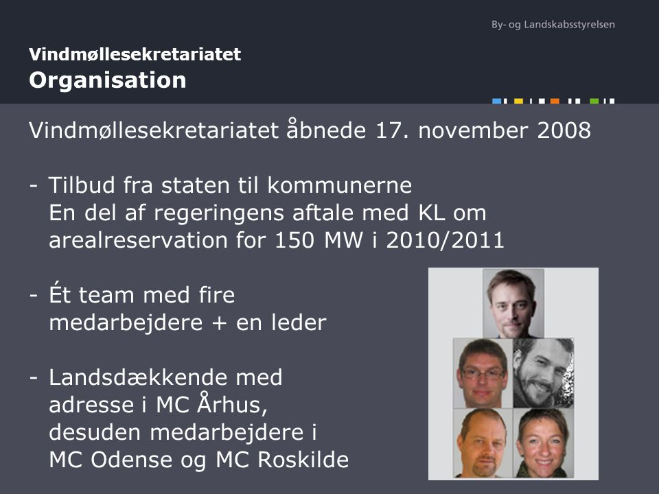 Vindmøllesekretariatet Organisation