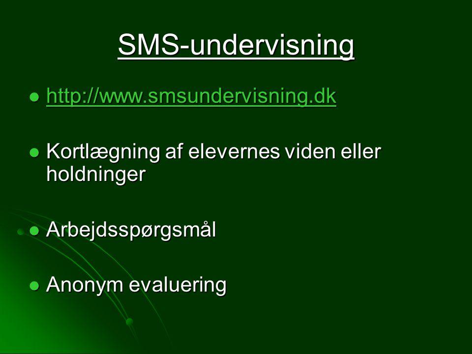 SMS-undervisning http://www.smsundervisning.dk