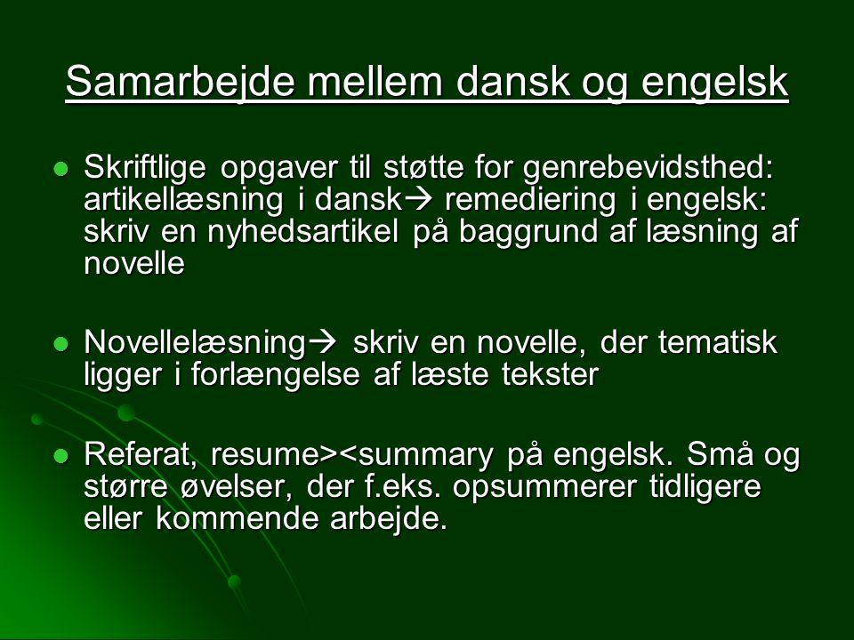 Samarbejde mellem dansk og engelsk
