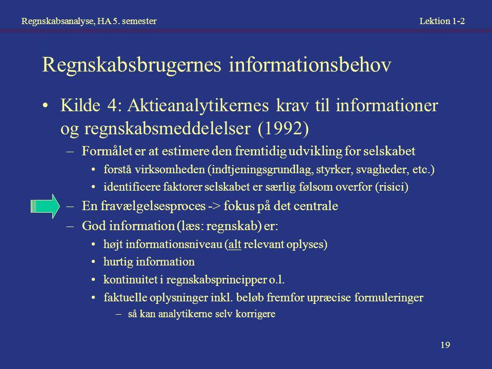 Regnskabsbrugernes informationsbehov