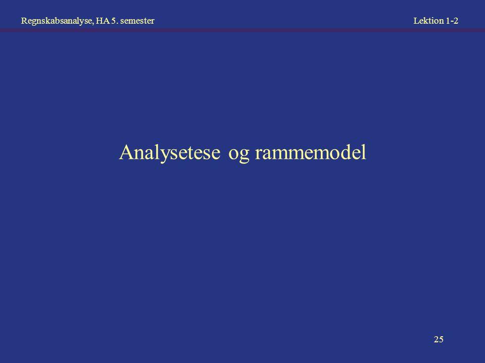 Analysetese og rammemodel
