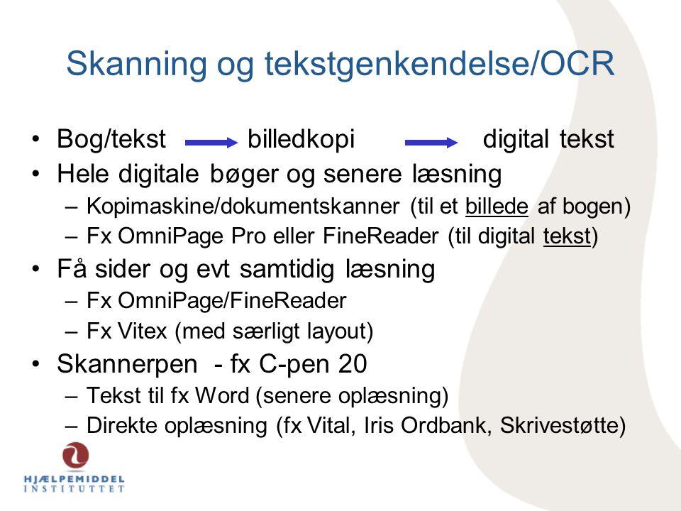 Skanning og tekstgenkendelse/OCR