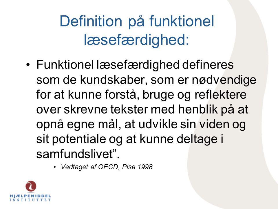 Definition på funktionel læsefærdighed: