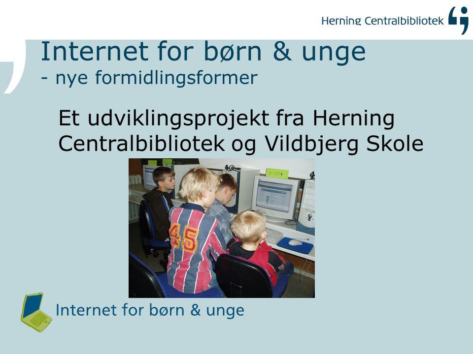 Internet for børn & unge - nye formidlingsformer