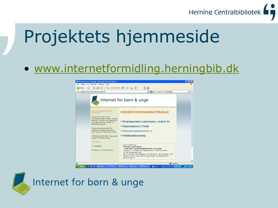 Projektets hjemmeside