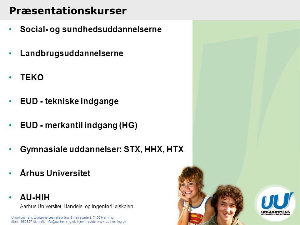 Præsentationskurser Social- og sundhedsuddannelserne