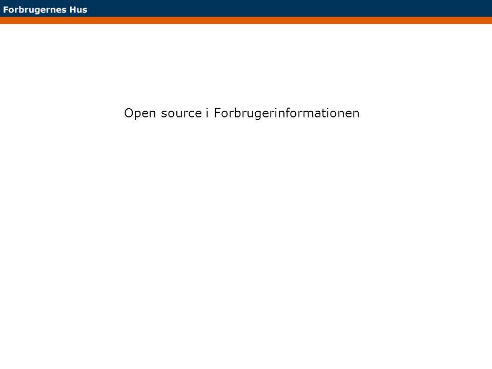 Open source i Forbrugerinformationen