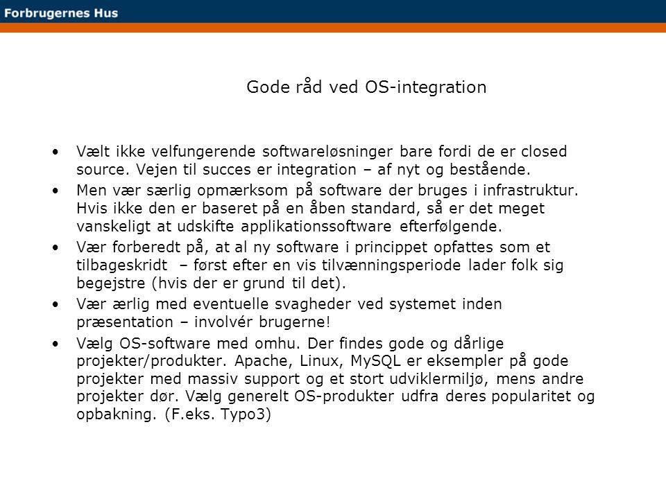 Gode råd ved OS-integration