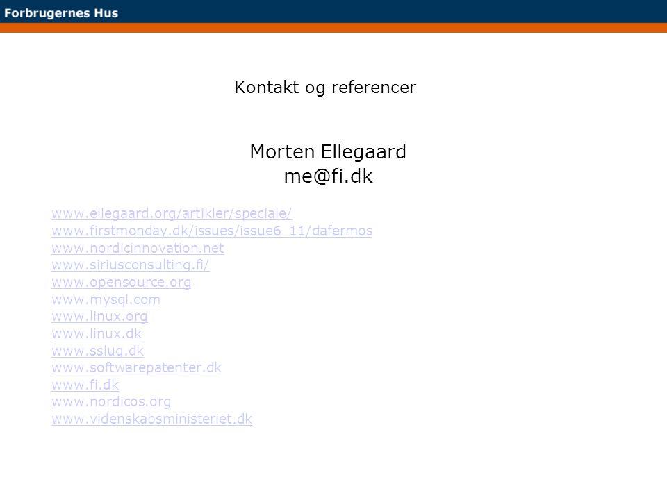 Morten Ellegaard me@fi.dk Kontakt og referencer