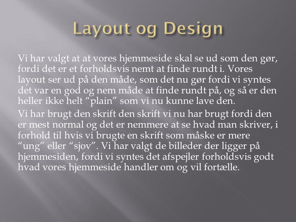 Layout og Design