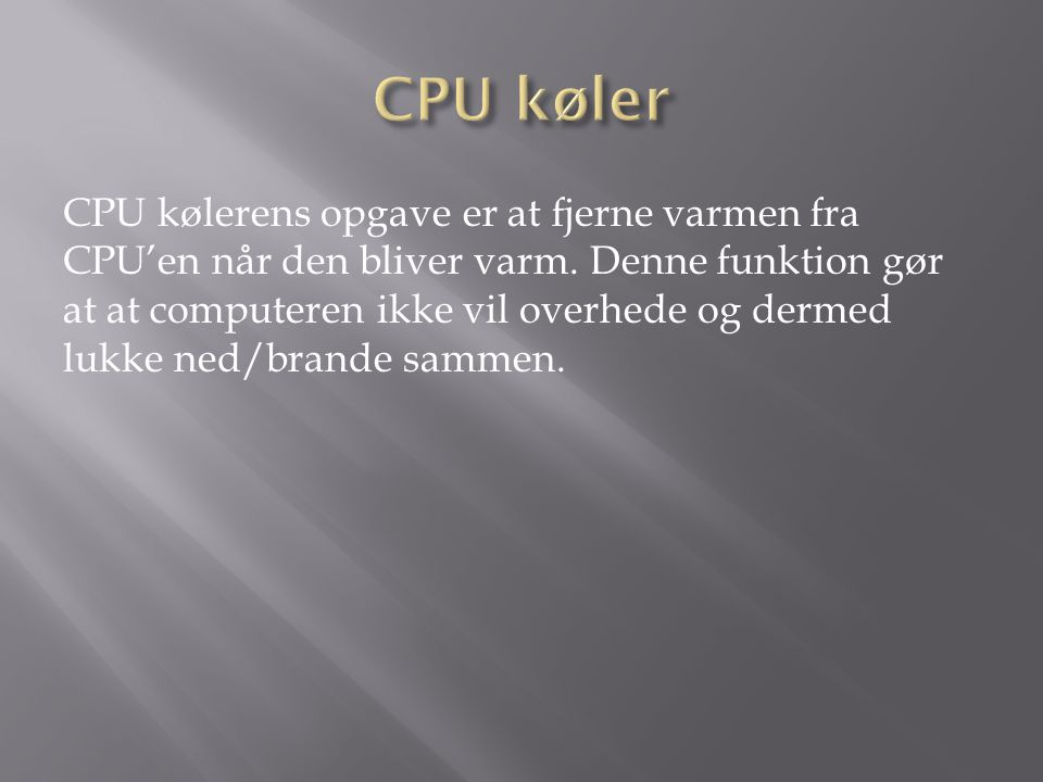 CPU køler