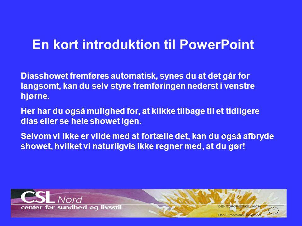 En kort introduktion til PowerPoint