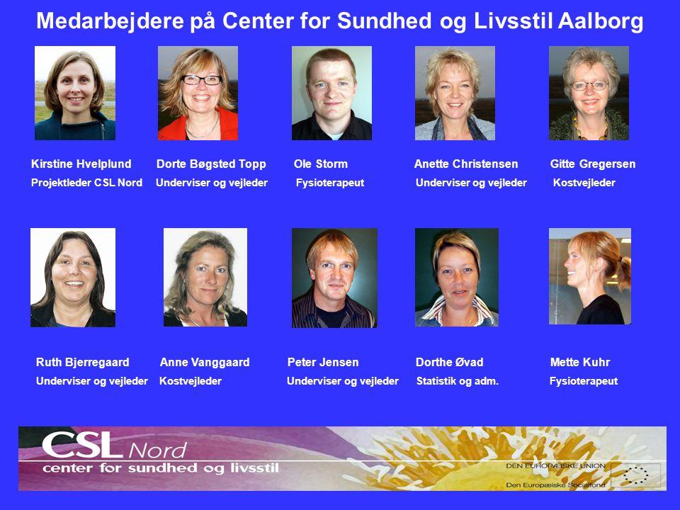 Medarbejdere på Center for Sundhed og Livsstil Aalborg