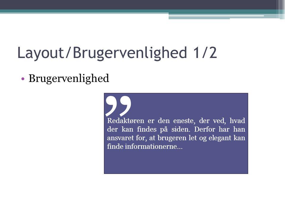 Layout/Brugervenlighed 1/2