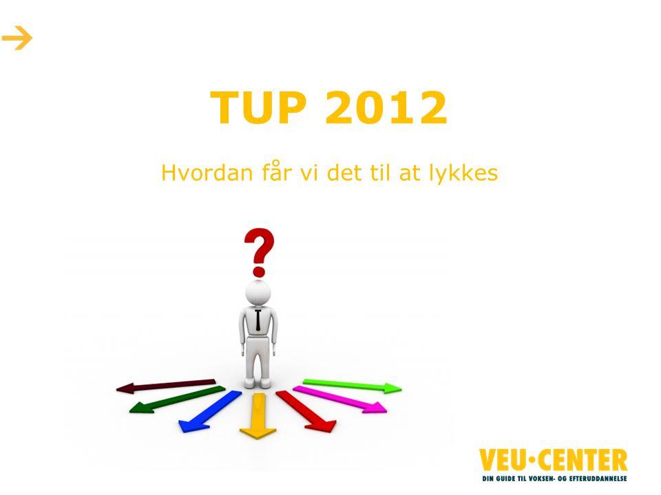 TUP 2012 Hvordan får vi det til at lykkes