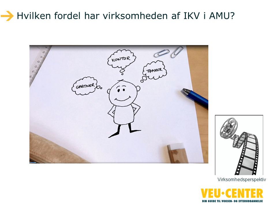 Hvilken fordel har virksomheden af IKV i AMU