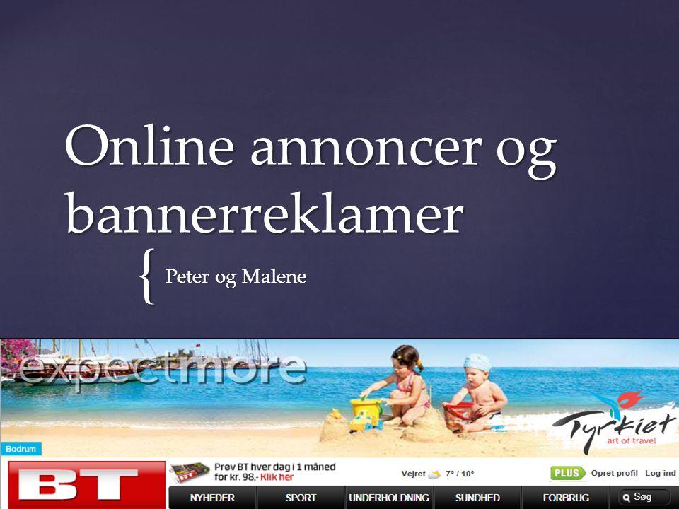 Online annoncer og bannerreklamer