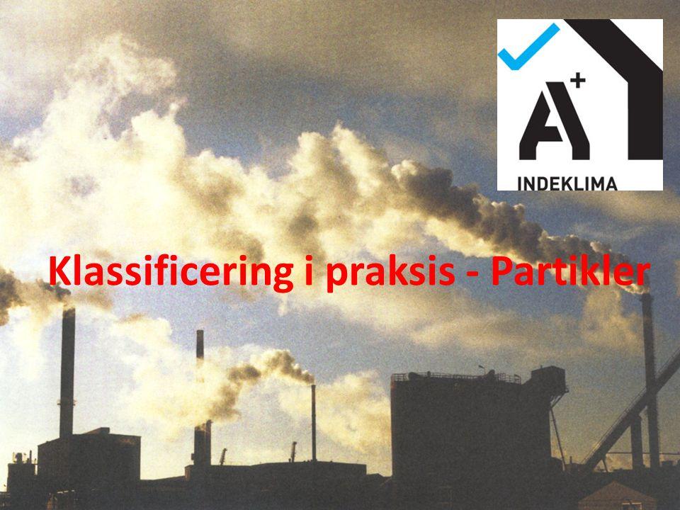 Klassificering i praksis - Partikler