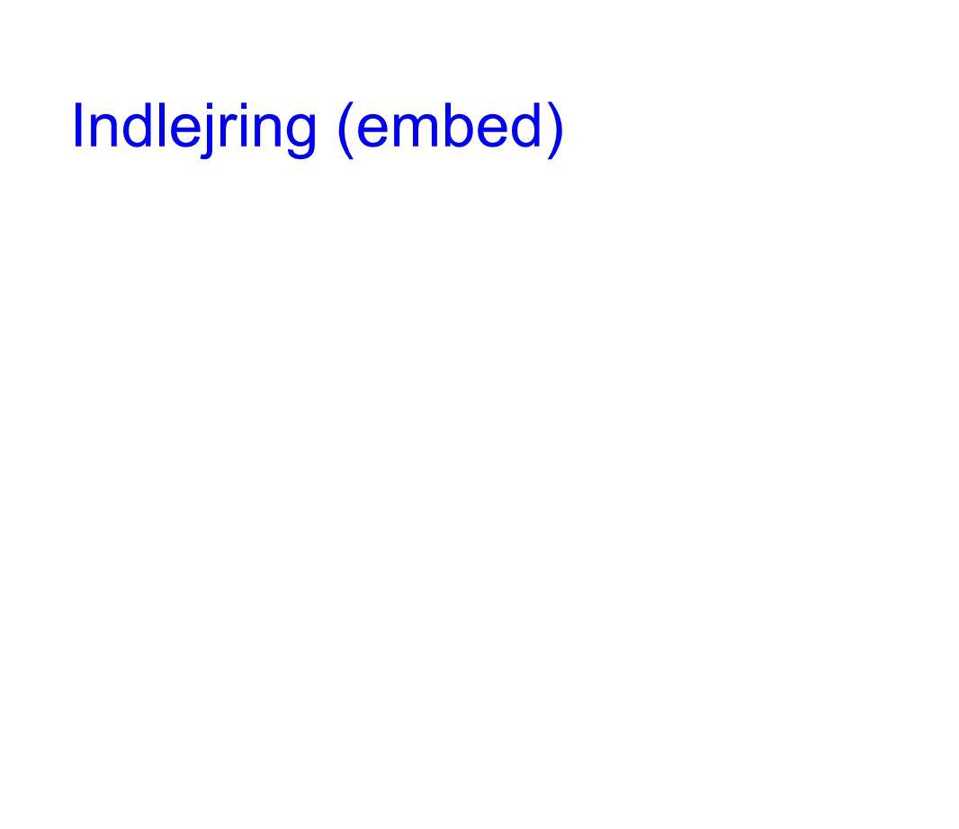Indlejring (embed)