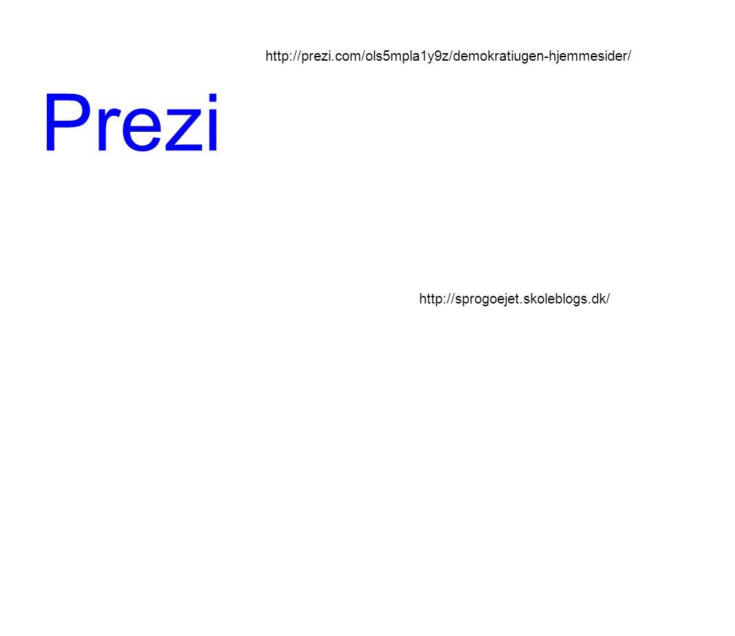 Prezi http://prezi.com/ols5mpla1y9z/demokratiugen-hjemmesider/