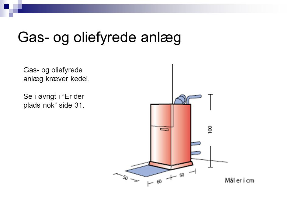 Gas- og oliefyrede anlæg