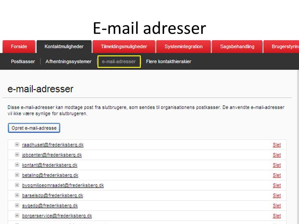 E-mail adresser