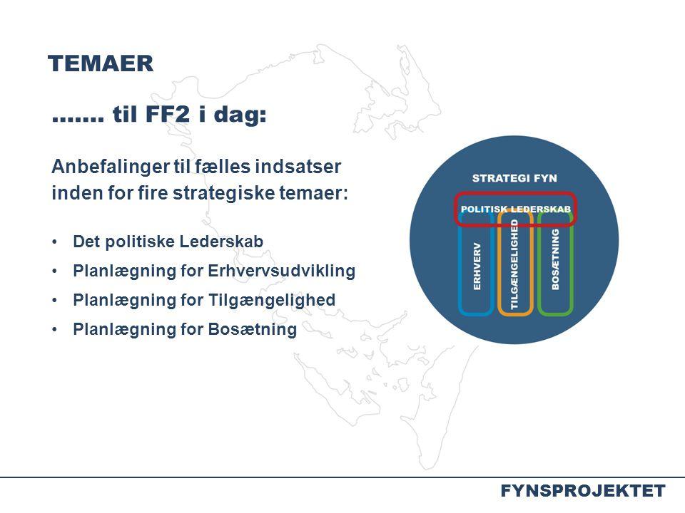 TEMAER ……. til FF2 i dag: Anbefalinger til fælles indsatser