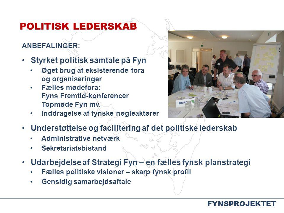 POLITISK LEDERSKAB Styrket politisk samtale på Fyn