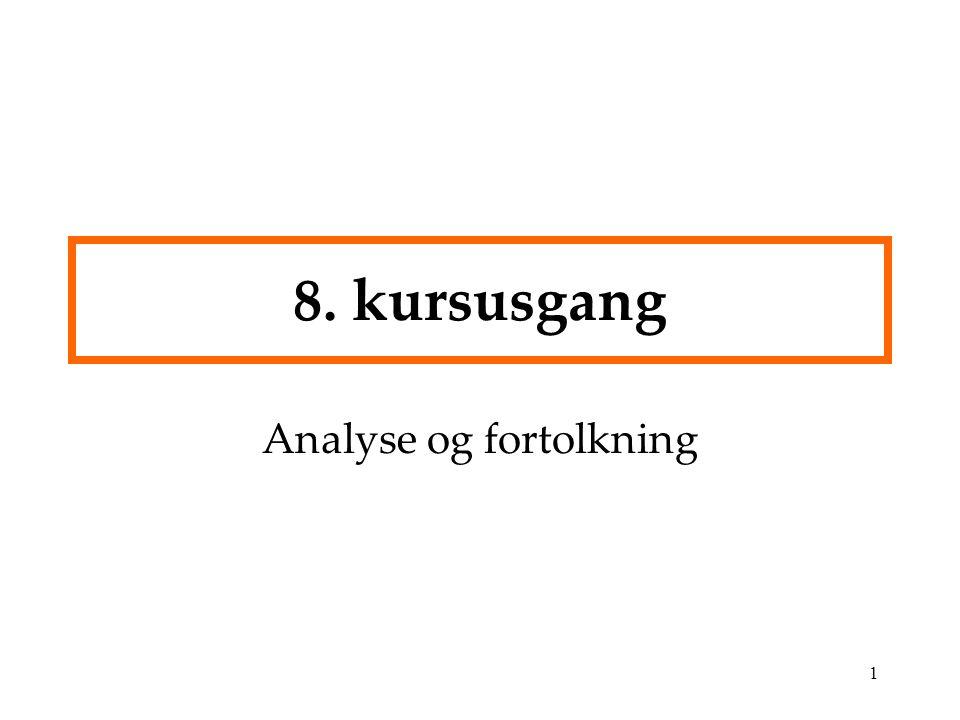 Analyse og fortolkning