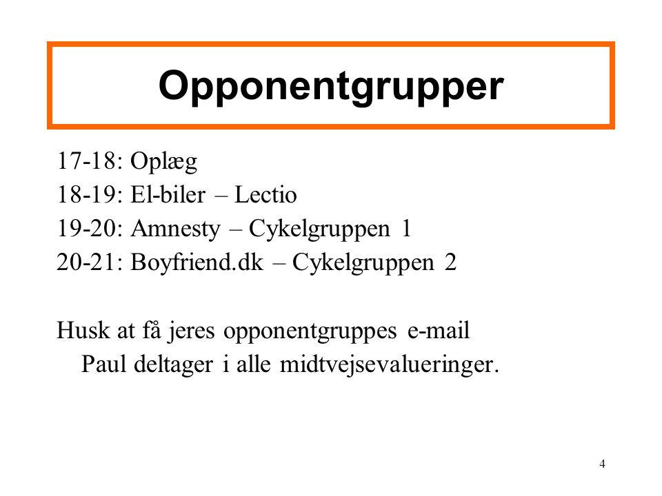 Opponentgrupper 17-18: Oplæg 18-19: El-biler – Lectio