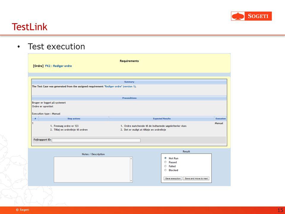 TestLink Test execution