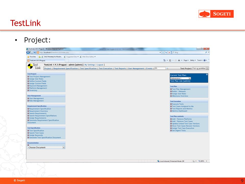 TestLink Project: