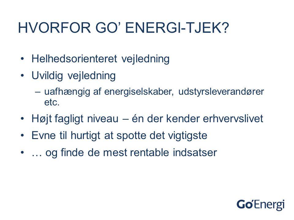 Hvorfor go' energi-tjek