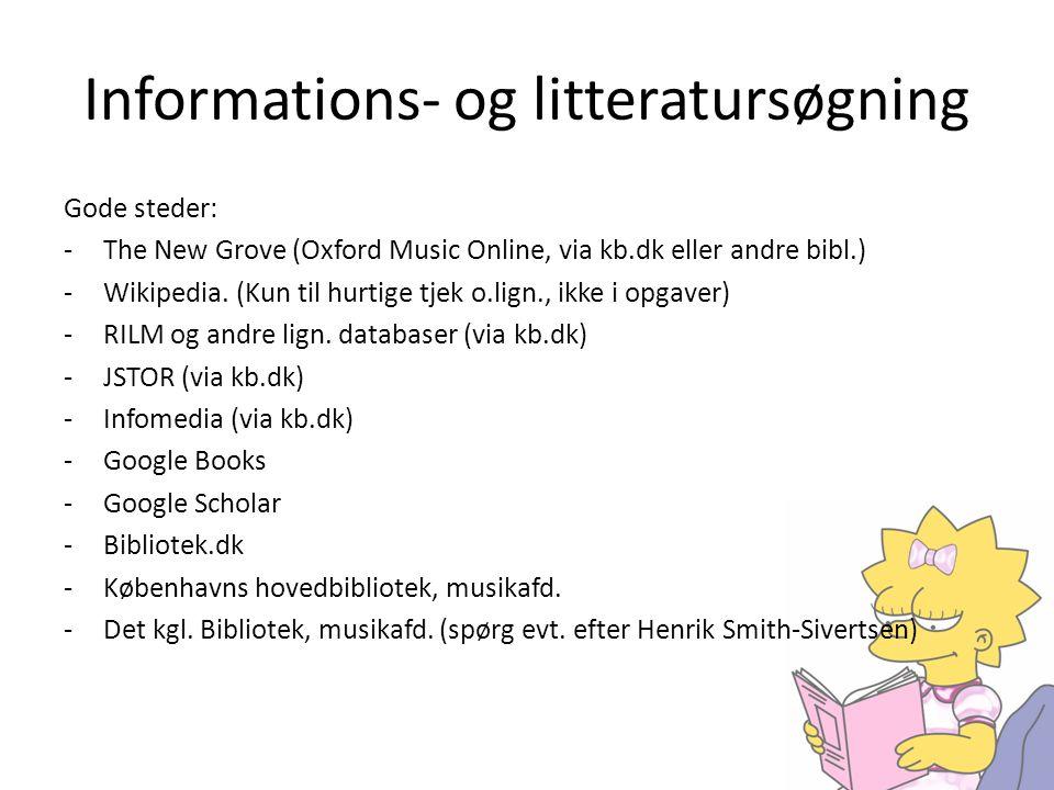 Informations- og litteratursøgning