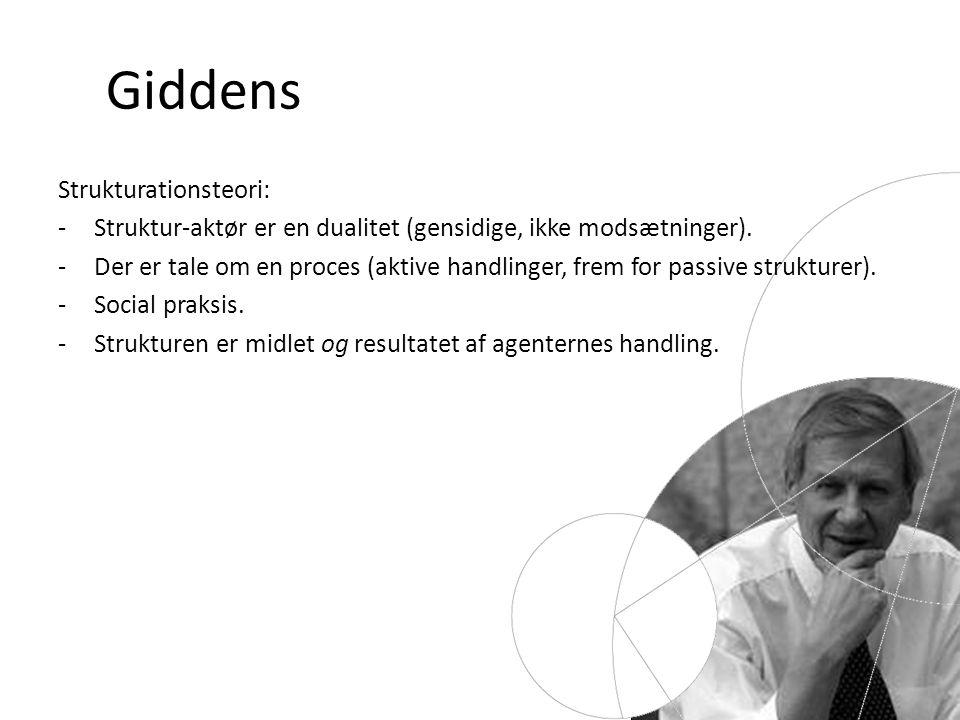 Giddens Strukturationsteori: